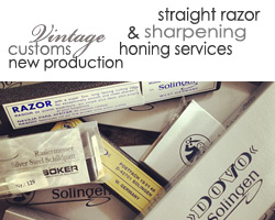 vintage, custom, new production honing and sharpening services