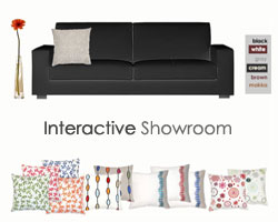 madaspen home decorative linen pillows interactive showroom