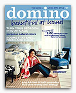contemporary modern linen embroidered pillows - domino magazine