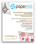 madaspen home - contemporary modern linen embroidered pillows - paperdoll - Las Vegas